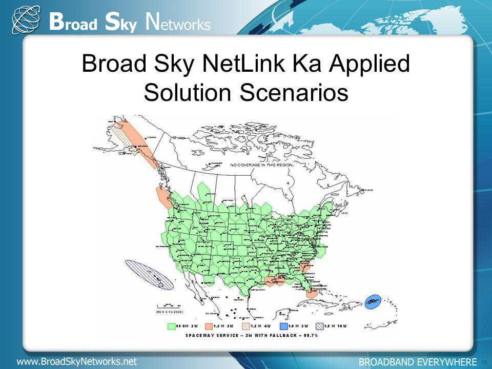 Broad Sky NetLink Ka Applied Solution Scenarios 16