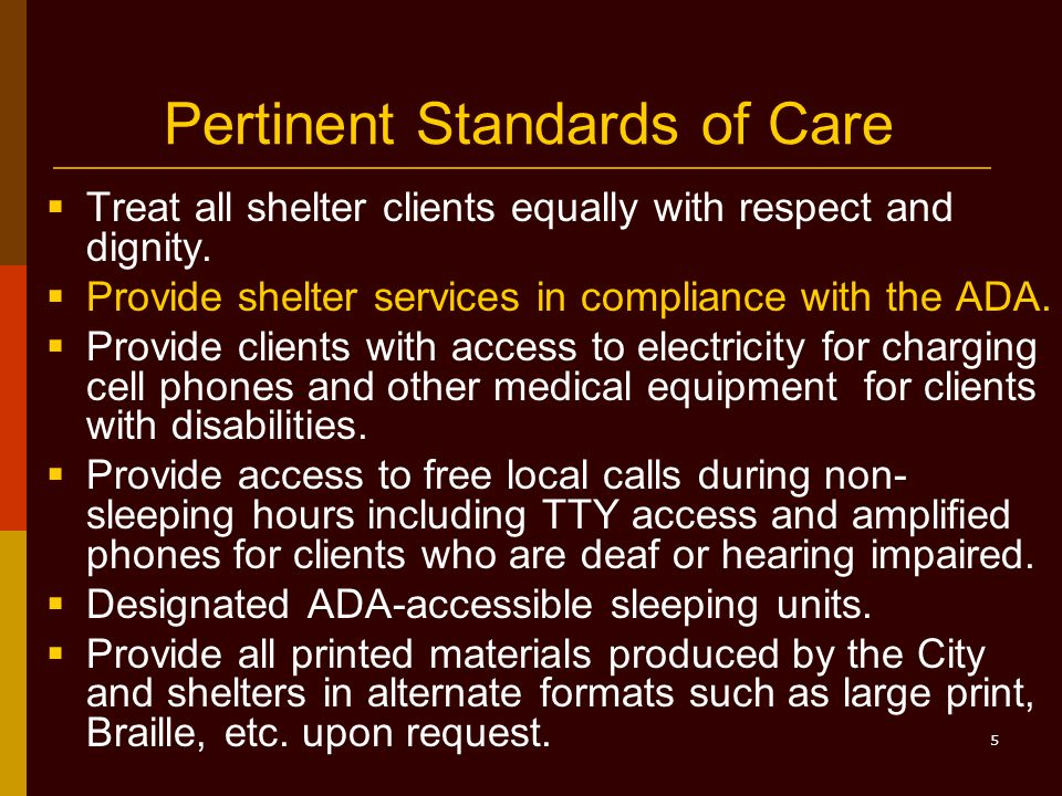 16 What We DON'T Need to Do Undue Administrative Burden  Providing the Standards of Care legislation on audiotape if the document is available online and the Library provides access to a computer that can read it aloud.