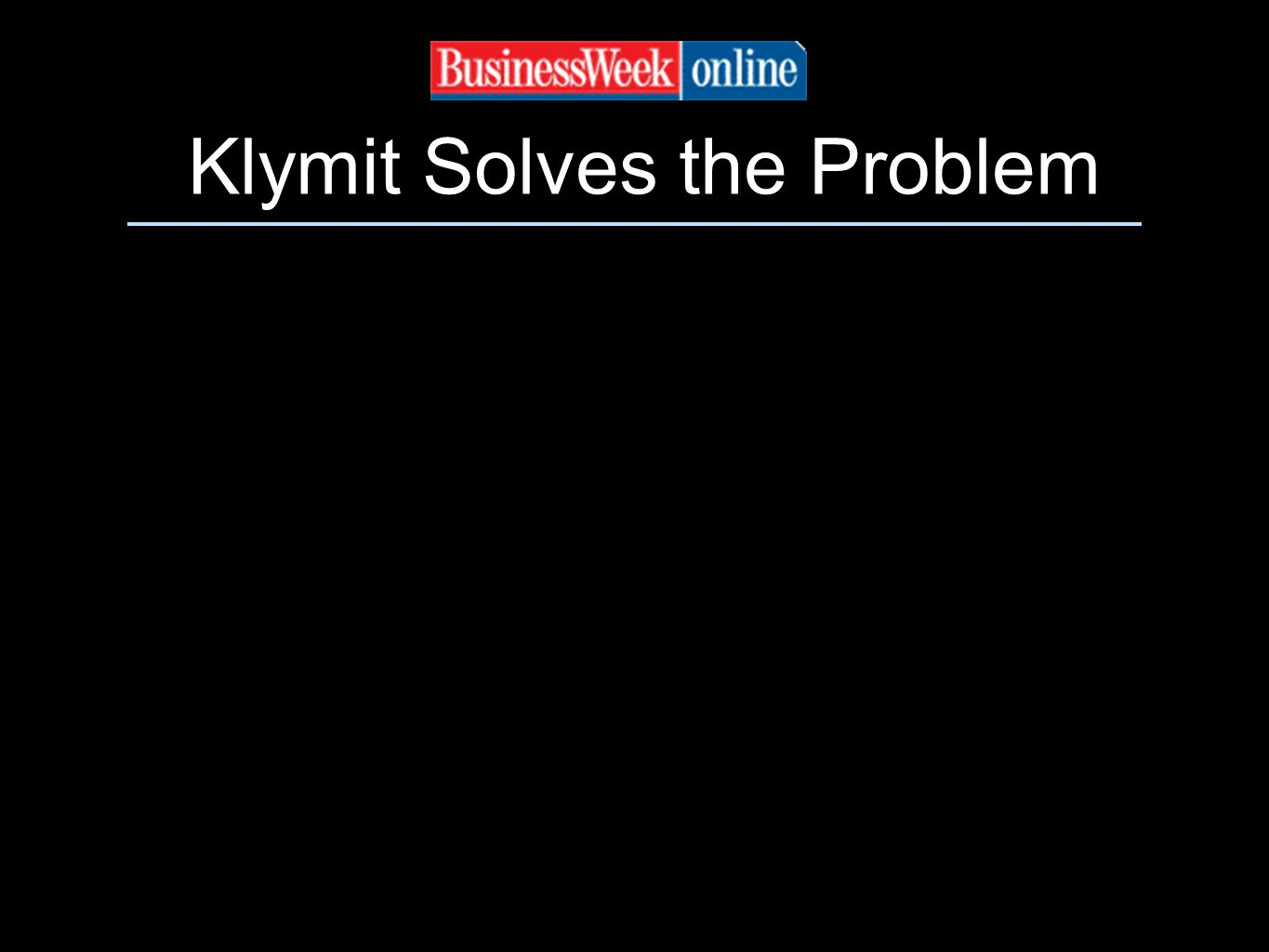 Klymit Solves the Problem