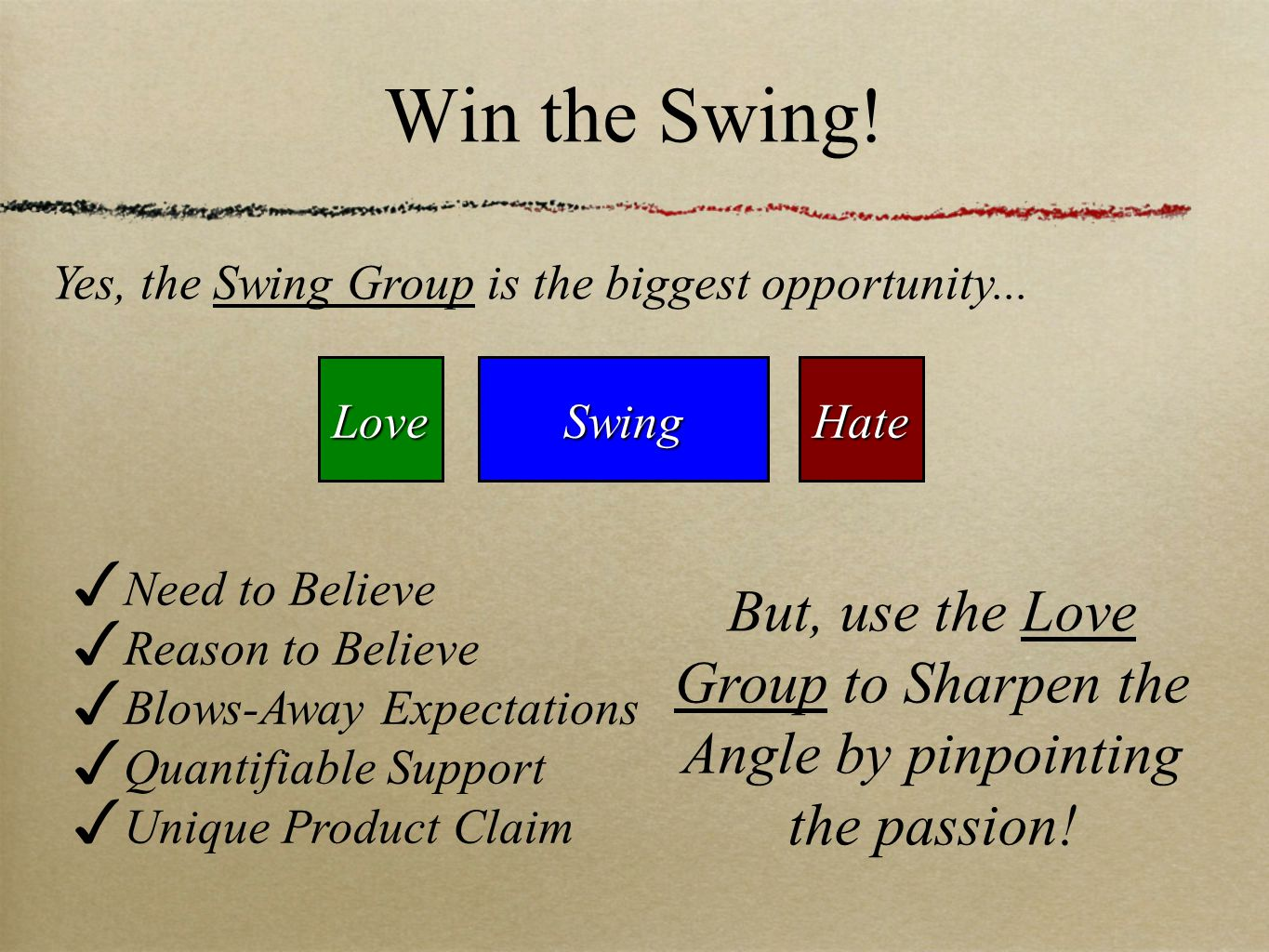Win the Swing.