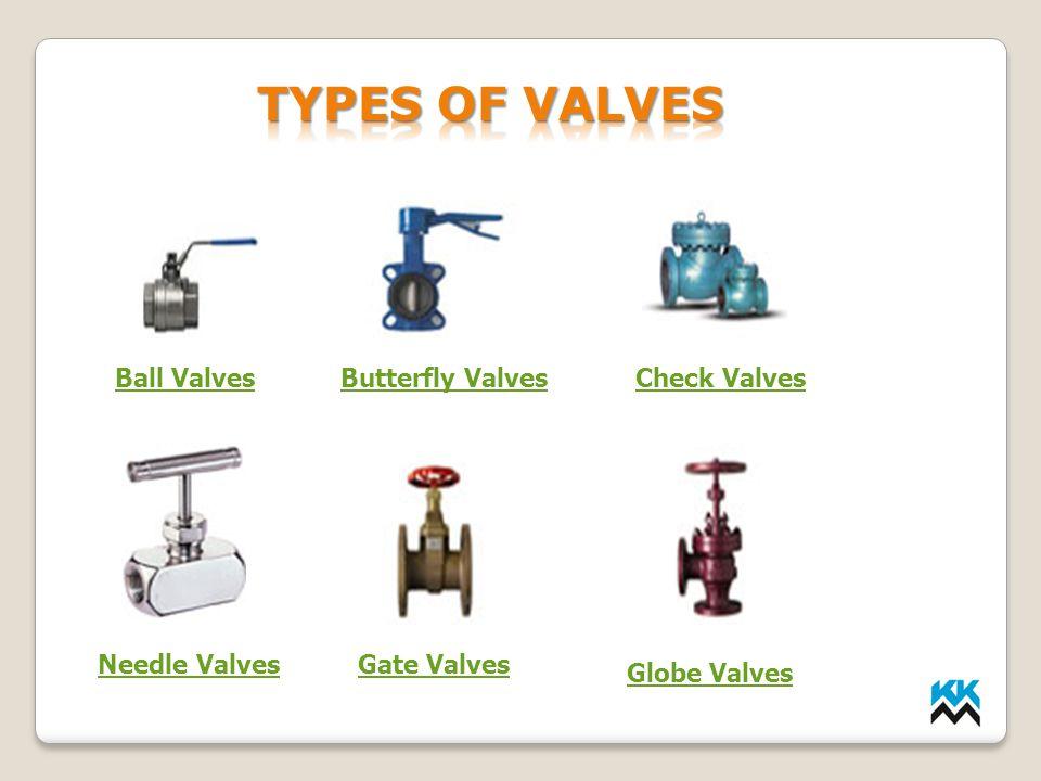Ball ValvesButterfly ValvesCheck Valves Needle ValvesGate Valves Globe Valves