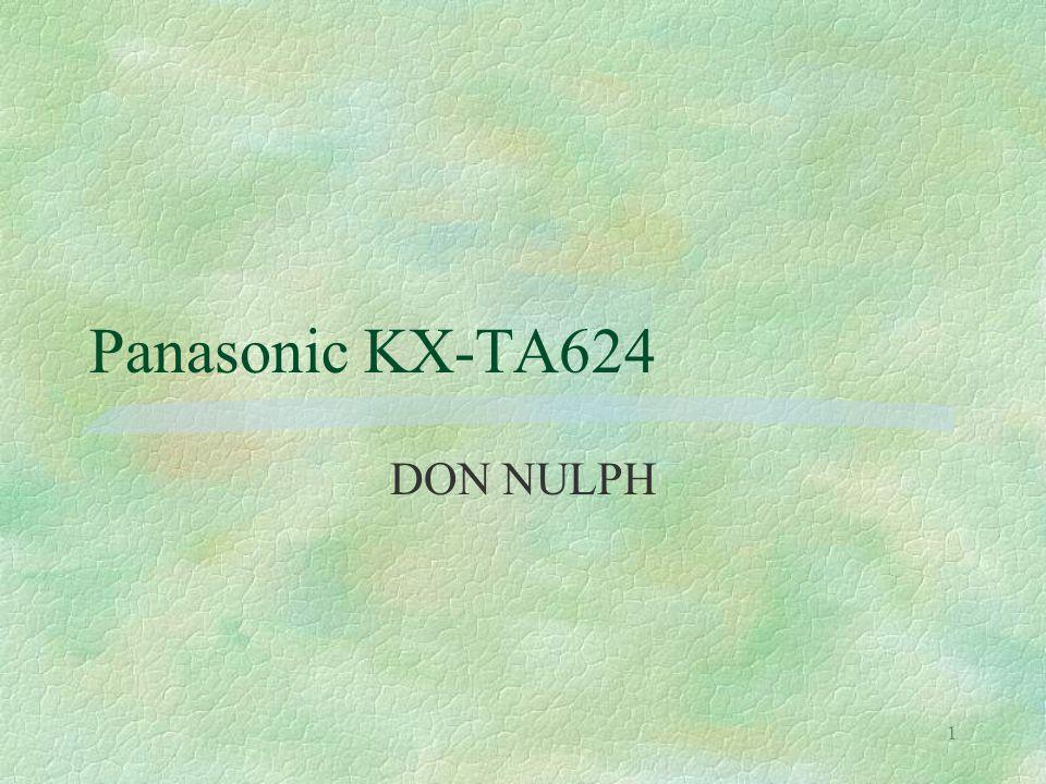 1 Panasonic KX-TA624 DON NULPH