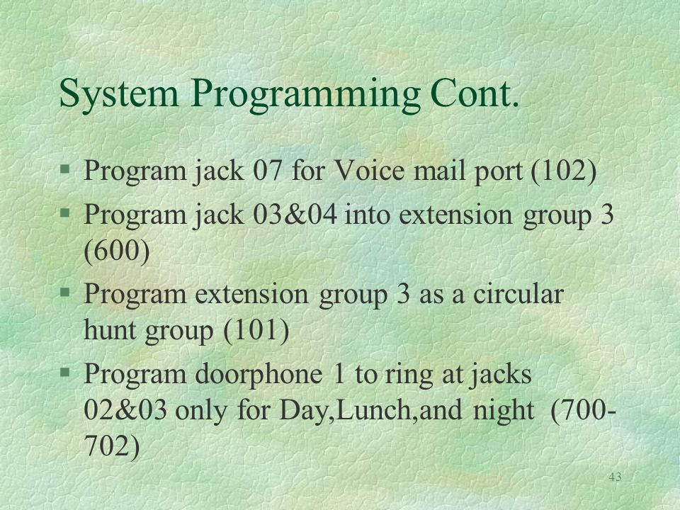 43 System Programming Cont.