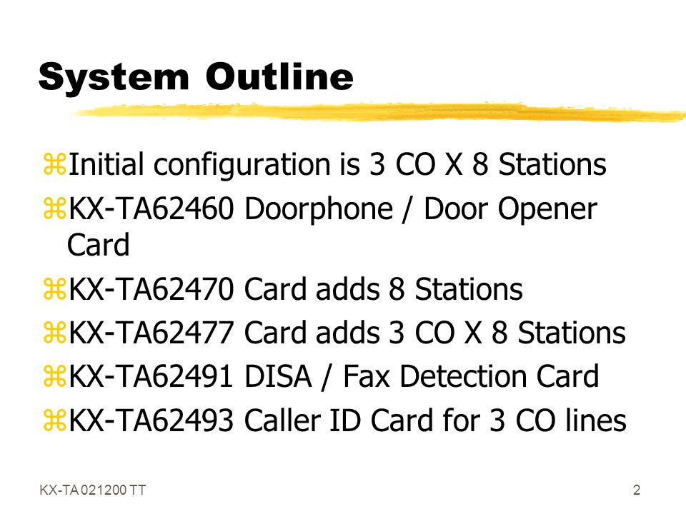 KX-TA 021200 TT13 DISA (continued) zCalling an External Party- Security Codes, CO Security, 3 time and you're out.