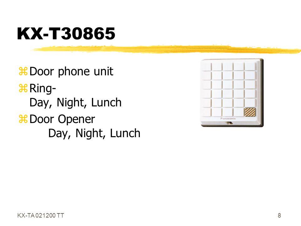 KX-TA 021200 TT19 KX-T7020 zSpeakerphone z12 Flex CO Buttons z4 Flex Function Buttons