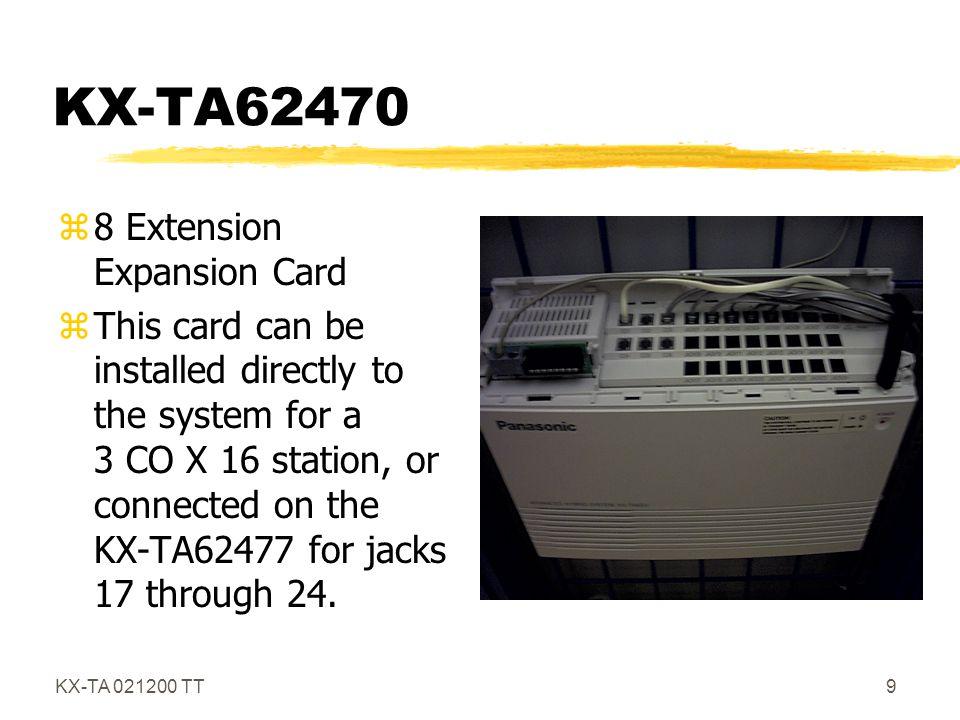 KX-TA 021200 TT20 KX-T7050 zMonitor Telephone z12 Flex CO Lines z4 Flex Monitor Buttons