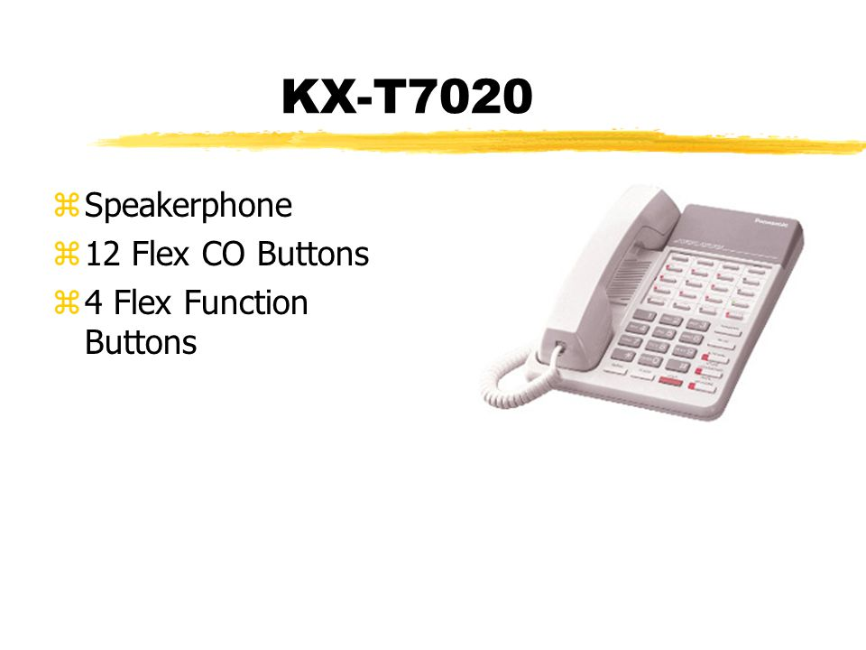 KX-T7020 zSpeakerphone z12 Flex CO Buttons z4 Flex Function Buttons