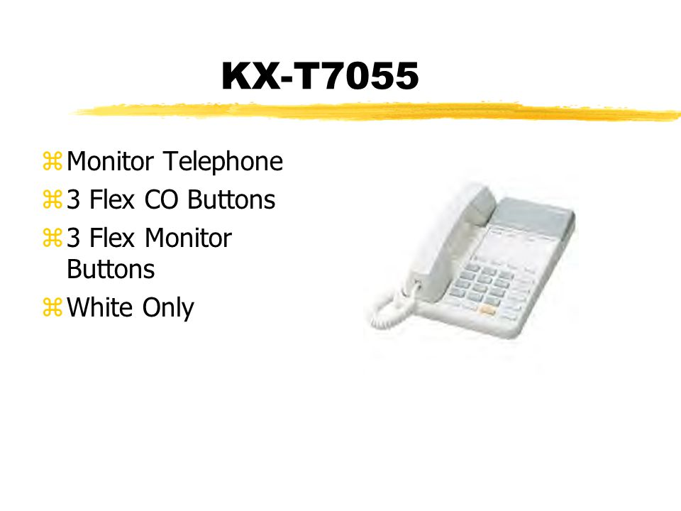 KX-T7055 zMonitor Telephone z3 Flex CO Buttons z3 Flex Monitor Buttons zWhite Only
