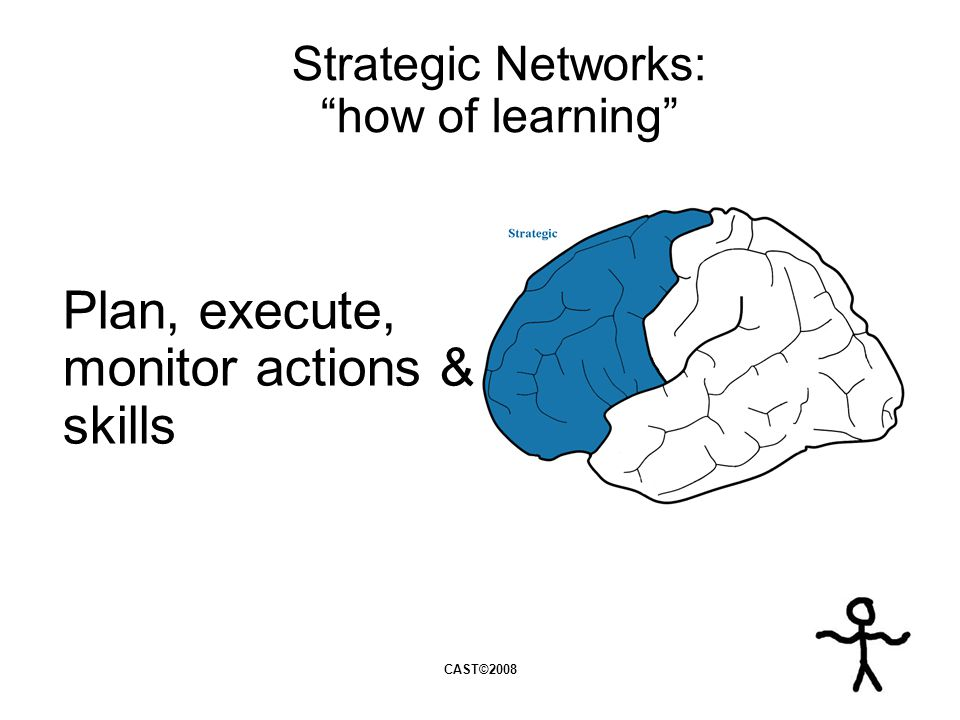 Plan, execute, monitor actions & skills Strategic Networks: how of learning CAST©2008
