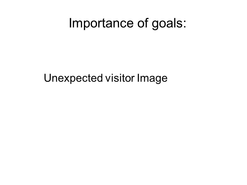 Importance of goals: Unexpected visitor Image