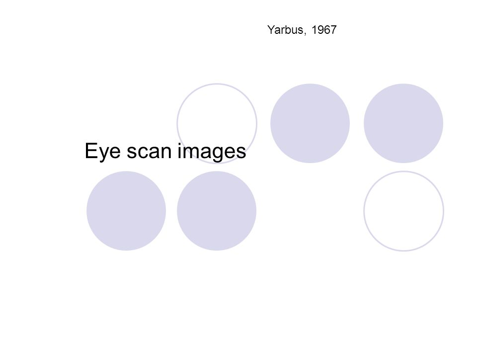 Yarbus, 1967 Eye scan images