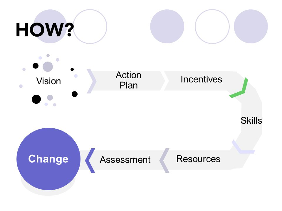 Vision Action Plan Incentives Skills Resources Assessment Change