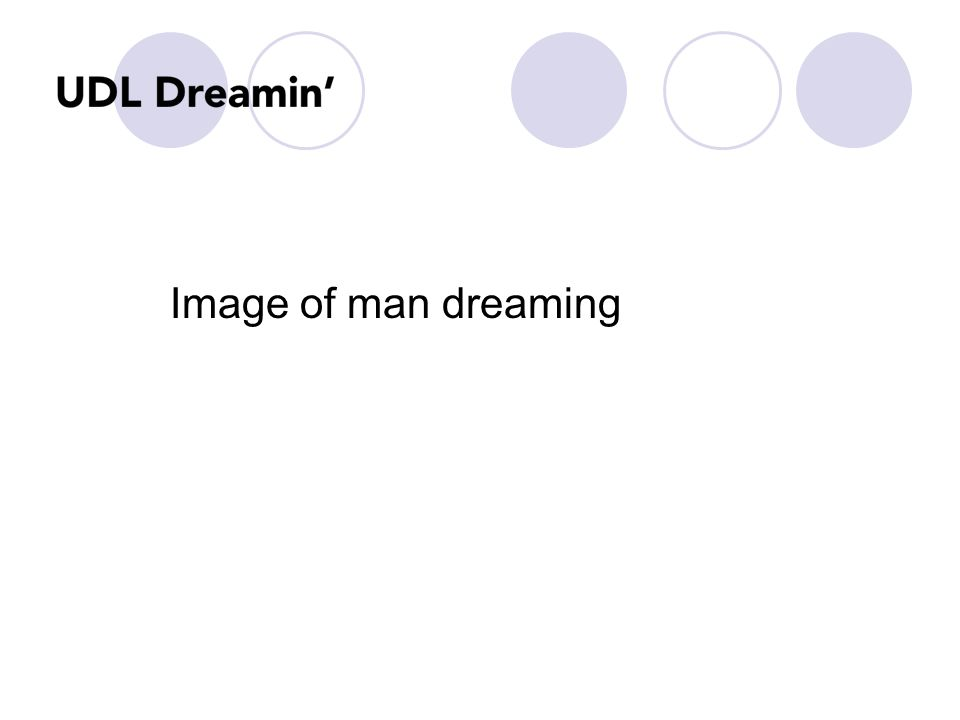 Image of man dreaming