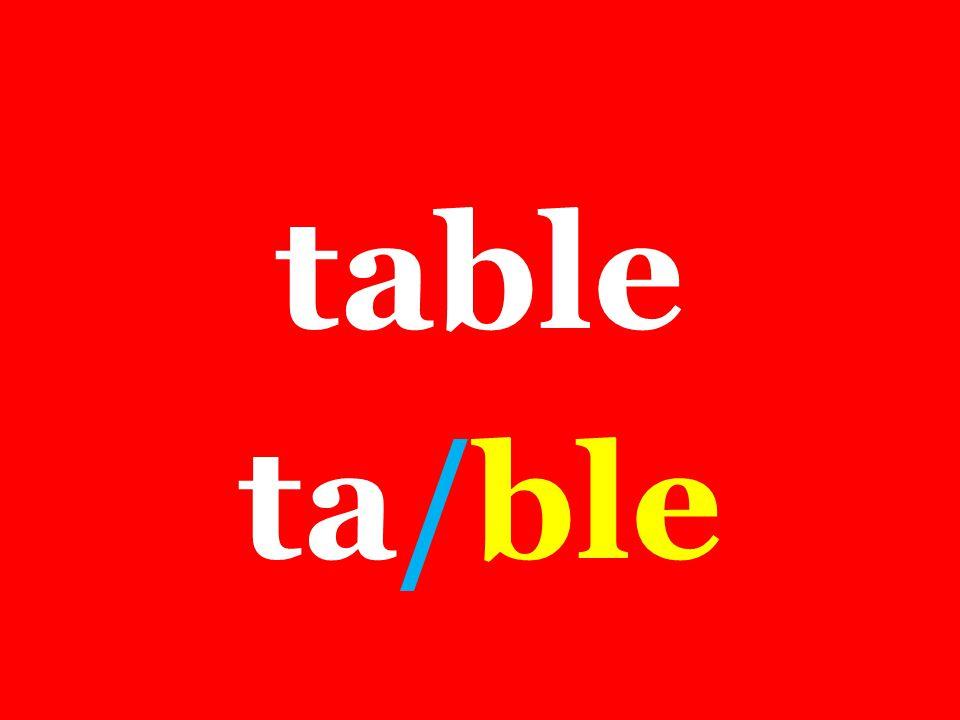 table ta/ble