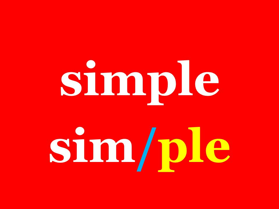 simple sim/ple