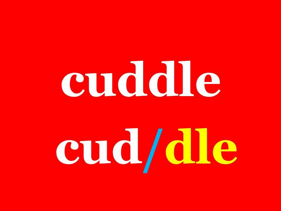 cuddle cud/dle