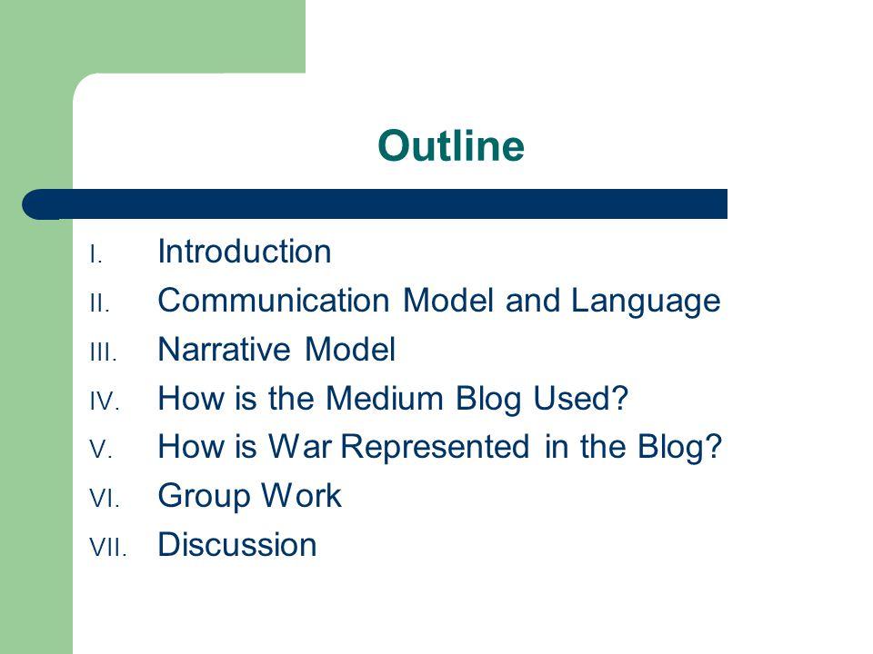 Outline I. Introduction II. Communication Model and Language III.