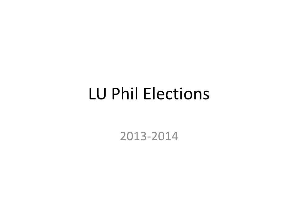 LU Phil Elections 2013-2014