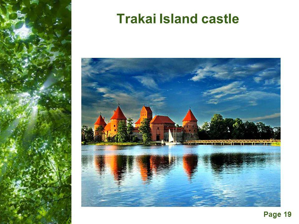 Free Powerpoint Templates Page 19 Trakai Island castle