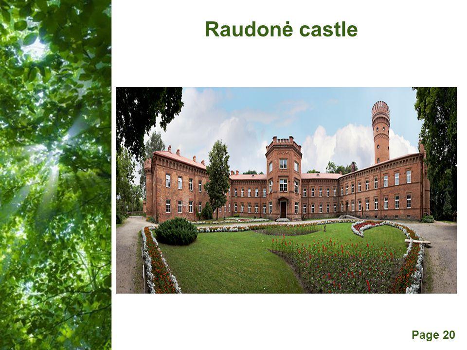 Free Powerpoint Templates Page 20 Raudonė castle