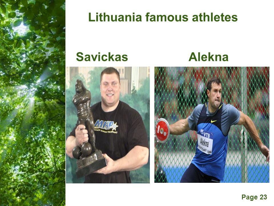 Free Powerpoint Templates Page 23 Lithuania famous athletes SavickasAlekna