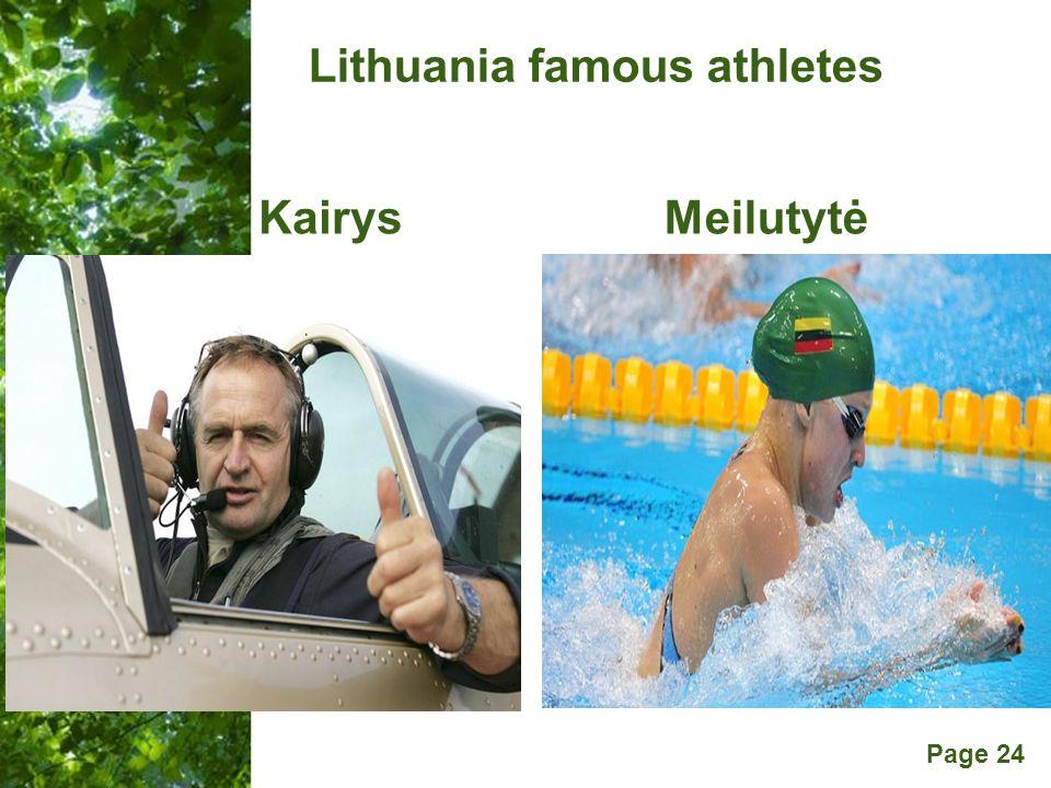 Free Powerpoint Templates Page 24 Lithuania famous athletes KairysMeilutytė
