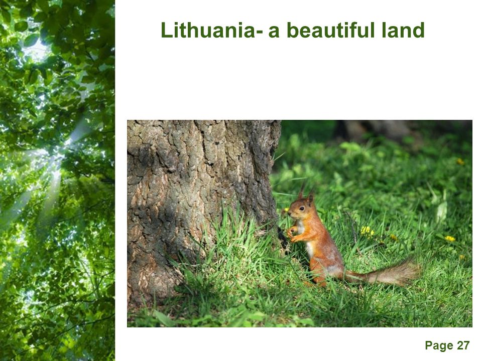 Free Powerpoint Templates Page 27 Lithuania- a beautiful land