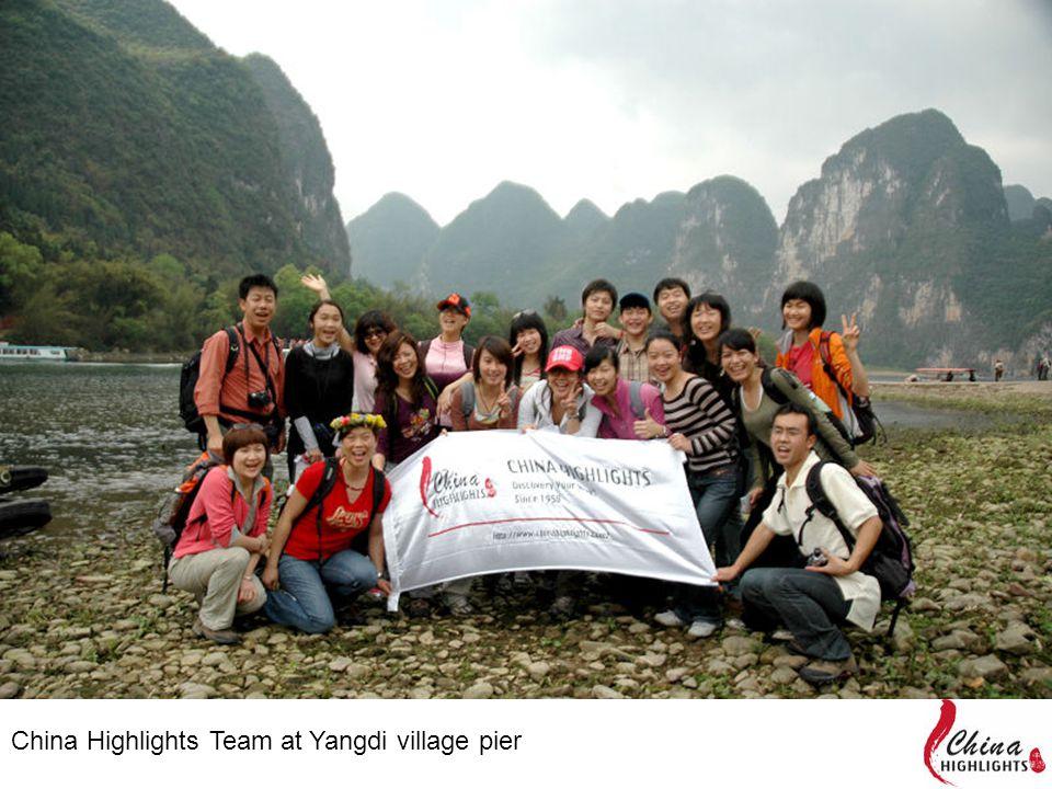 China Highlights Team at Yangdi village pier