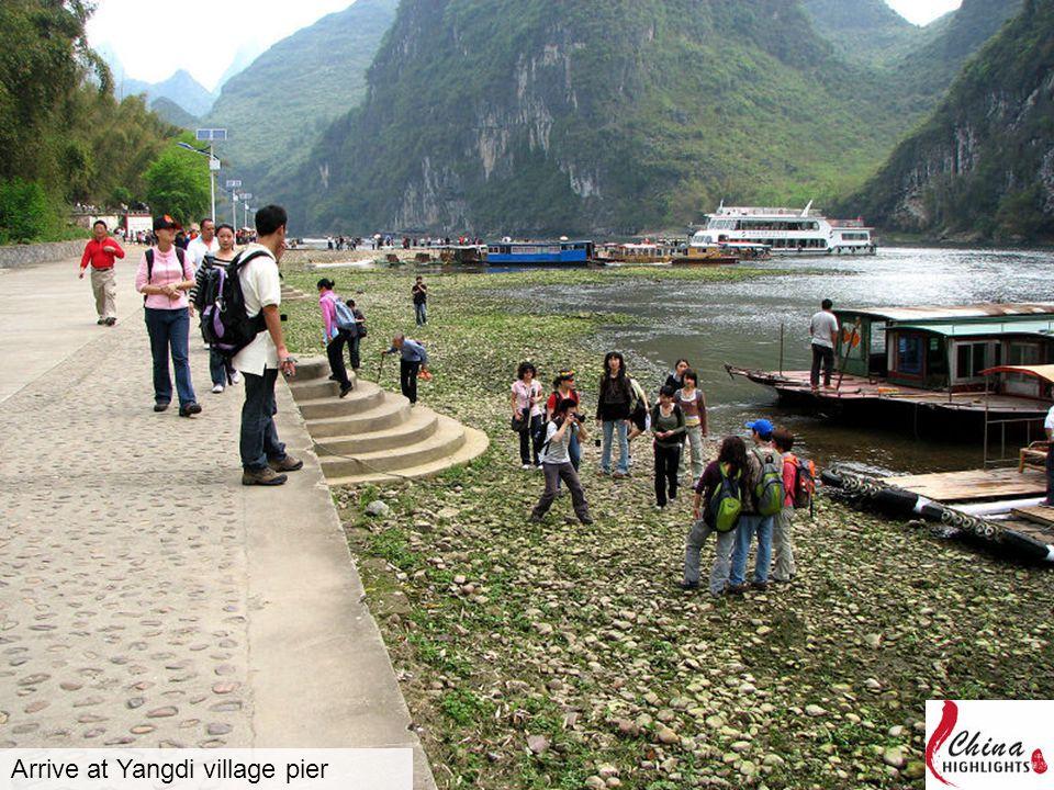 Arrive at Yangdi village pier