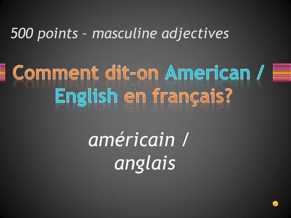 américain / anglais
