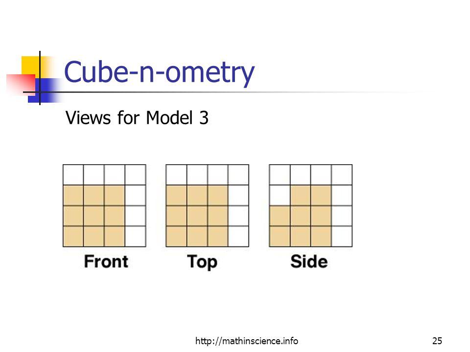 http://mathinscience.info25 Cube-n-ometry Views for Model 3