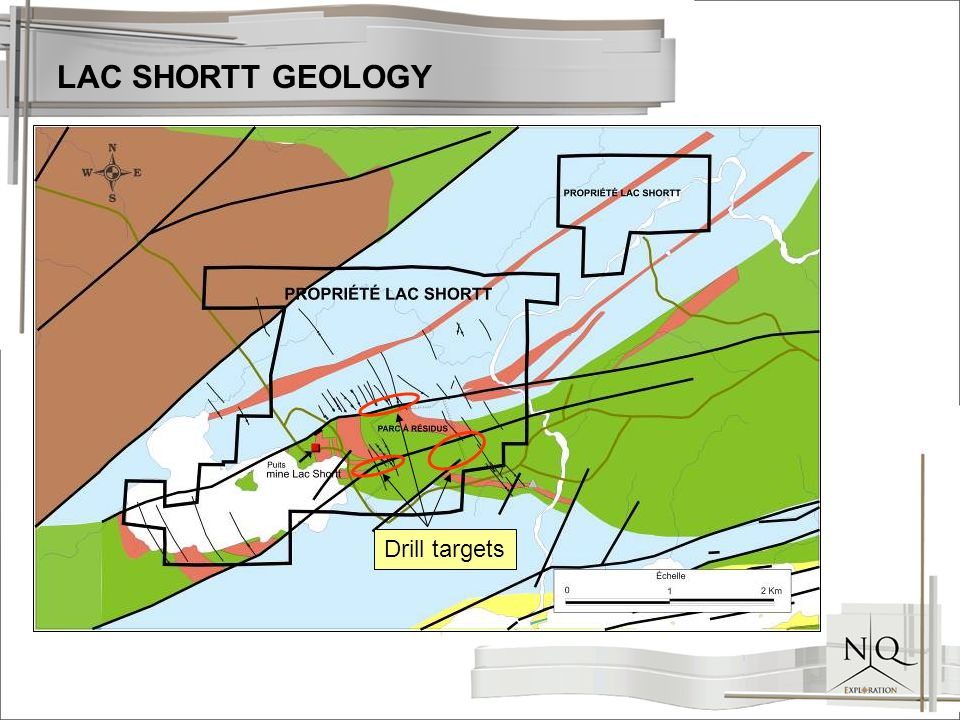 LAC SHORTT GEOLOGY Drill targets