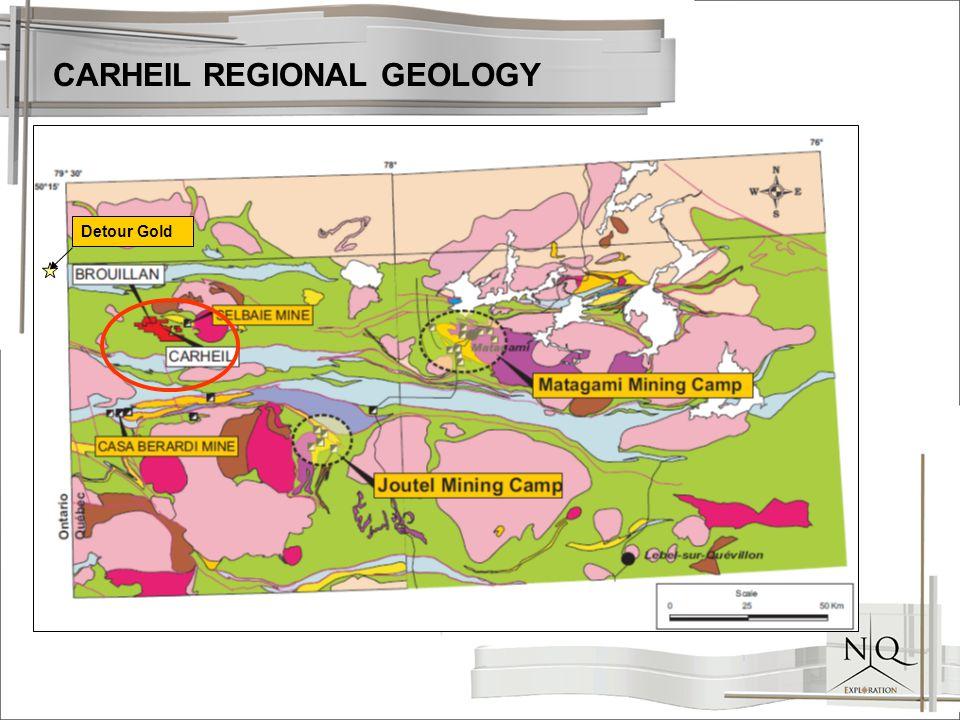 CARHEIL REGIONAL GEOLOGY Detour Gold