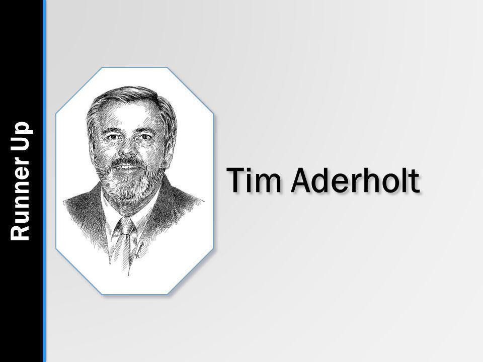 Tim Aderholt Runner Up