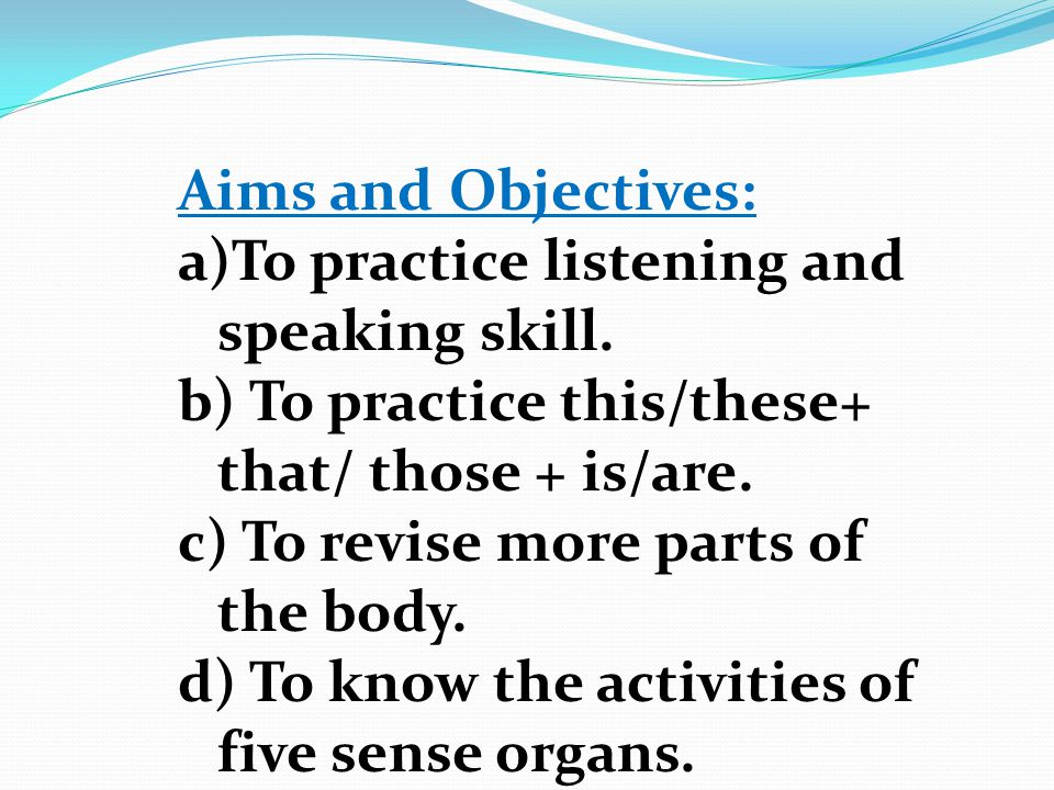 Parts of the Body Unit -3 Lesson-3
