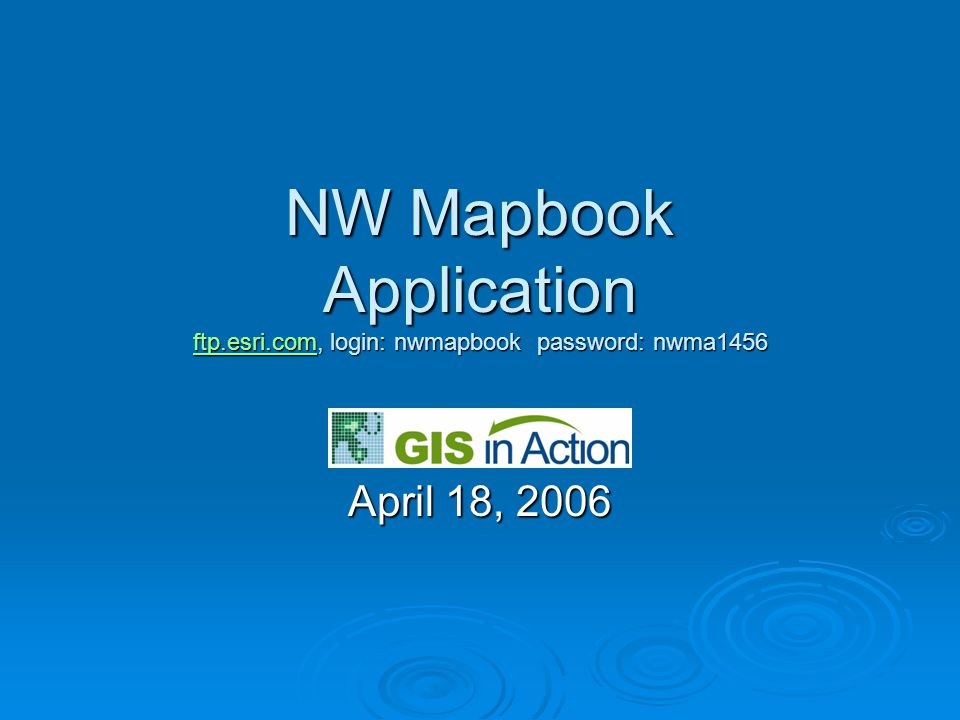 Availability of Tools  DS Mapbook Comes with ArcGIS Developer Kit Comes with ArcGIS Developer Kit Available online, search on edn.esri.com Available online, search on edn.esri.com  MPS Atlas available from ESRI or Business Partners Separate MPS Atlas Extension Separate MPS Atlas Extension PLTS Bundle PLTS Bundle  NW Mapbook Available from ESRI Northwest Regional Office web site, ftp.esri.com, login: nwmapbook password: nwma1456 Available from ESRI Northwest Regional Office web site, ftp.esri.com, login: nwmapbook password: nwma1456 ftp.esri.com
