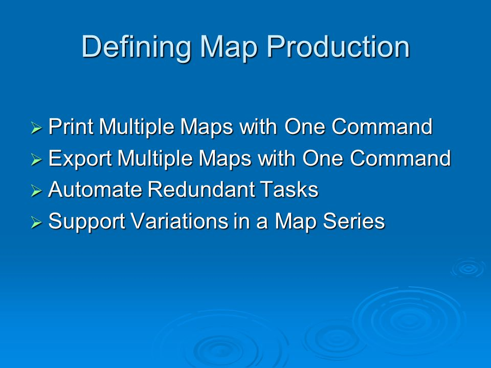 (Time Permitting) Current Issues  DS Mapbook and NW Mapbook COM limitations force loss of previous map series after recompiling application.