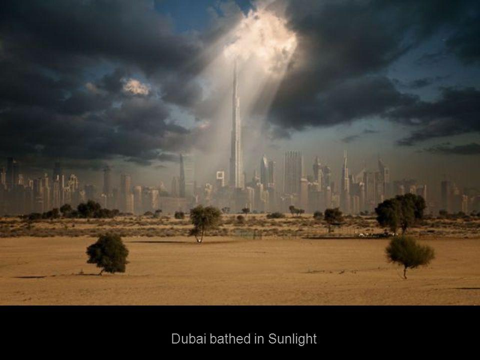 Dubai bathed in Sunlight