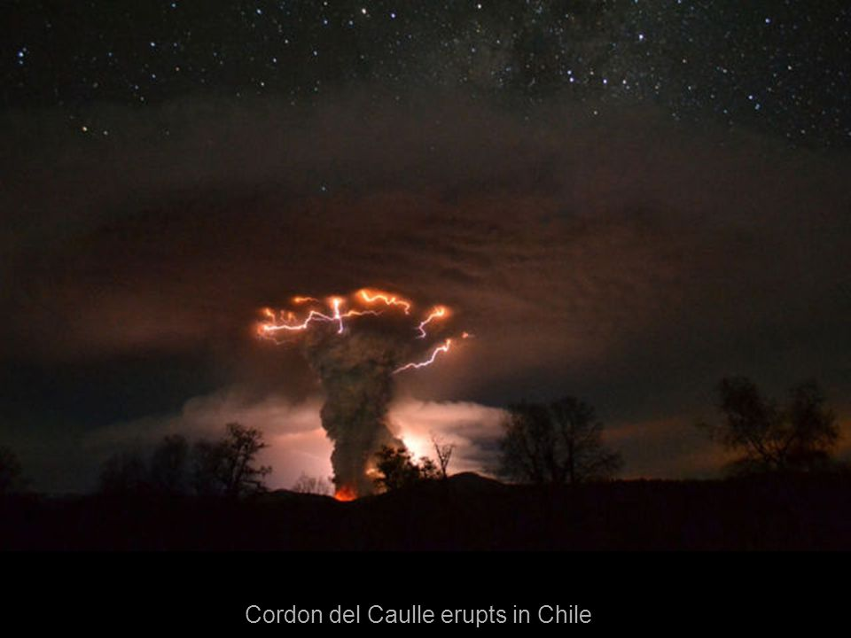 Cordon del Caulle erupts in Chile