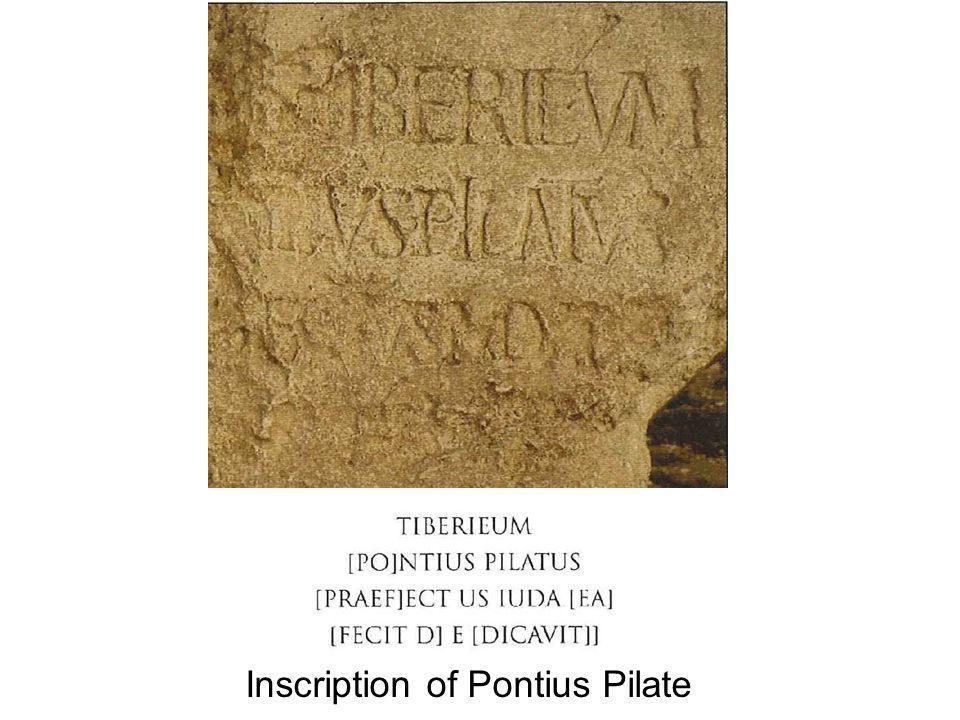 Inscription of Pontius Pilate