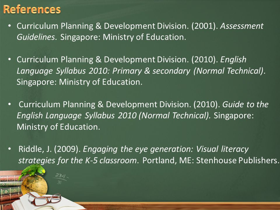Curriculum Planning & Development Division. (2001).