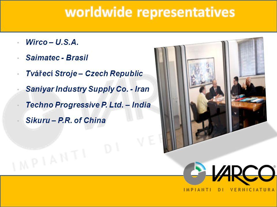 Wirco – U.S.A. Saimatec - Brasil Tvářecí Stroje – Czech Republic Saniyar Industry Supply Co.