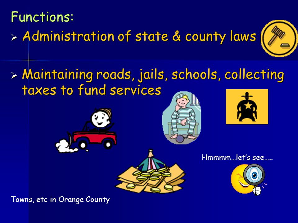 What is the structure and functions of county government.