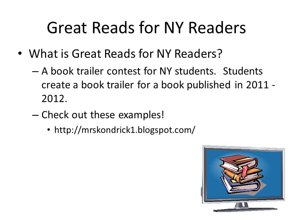 Great Reads for NY Readers What is Great Reads for NY Readers.