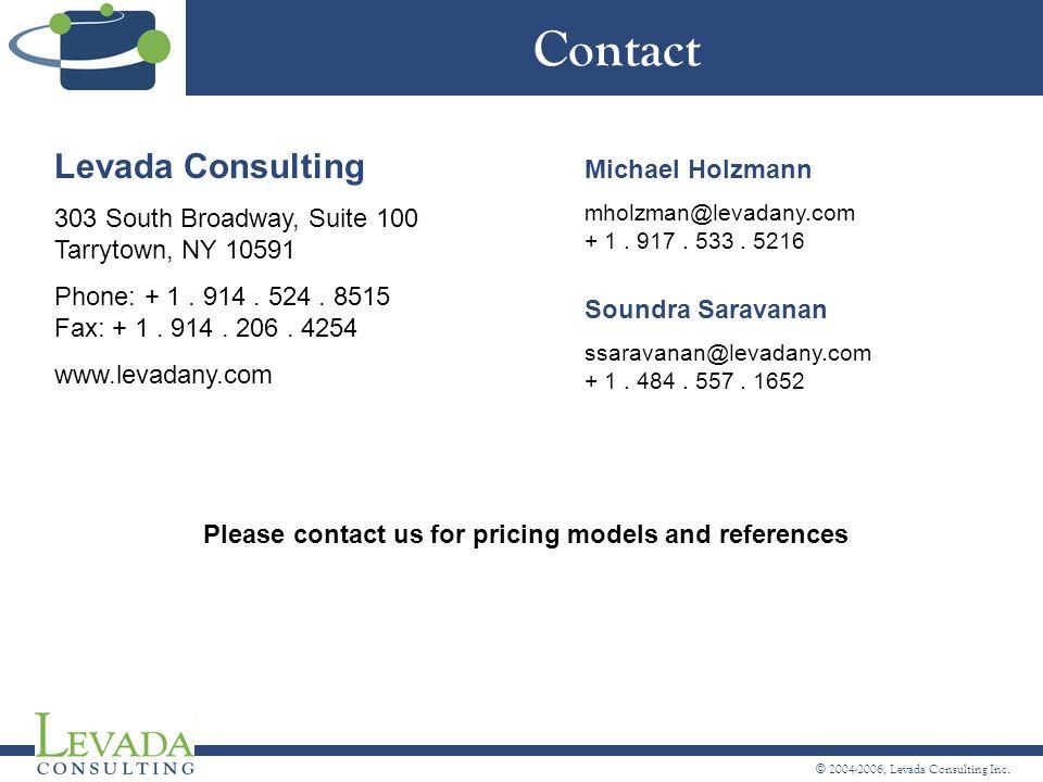 © 2004-2006, Levada Consulting Inc.