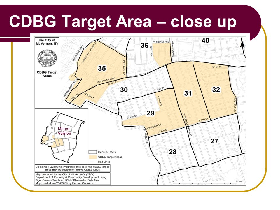 CDBG Target Area – close up 8 Mount Vernon