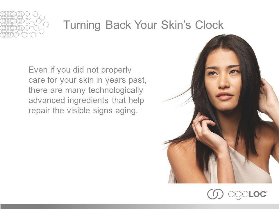 Even if you did not properly care for your skin in years past, there are many technologically advanced ingredients that help repair the visible signs aging.