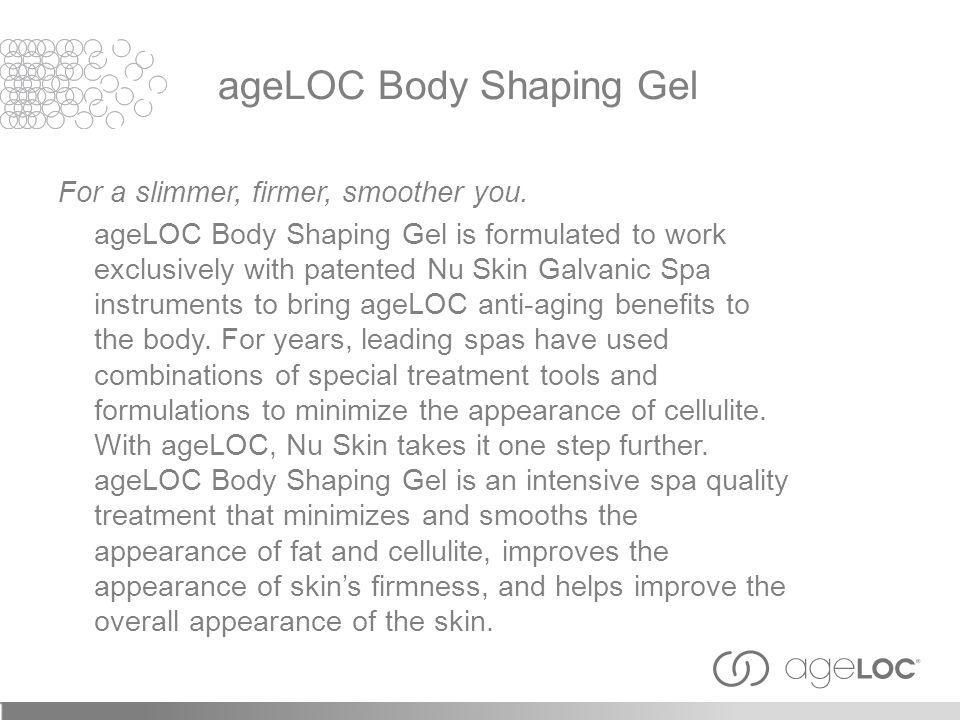 For a slimmer, firmer, smoother you.
