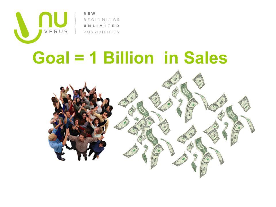 Goal = 1 Billion in Sales