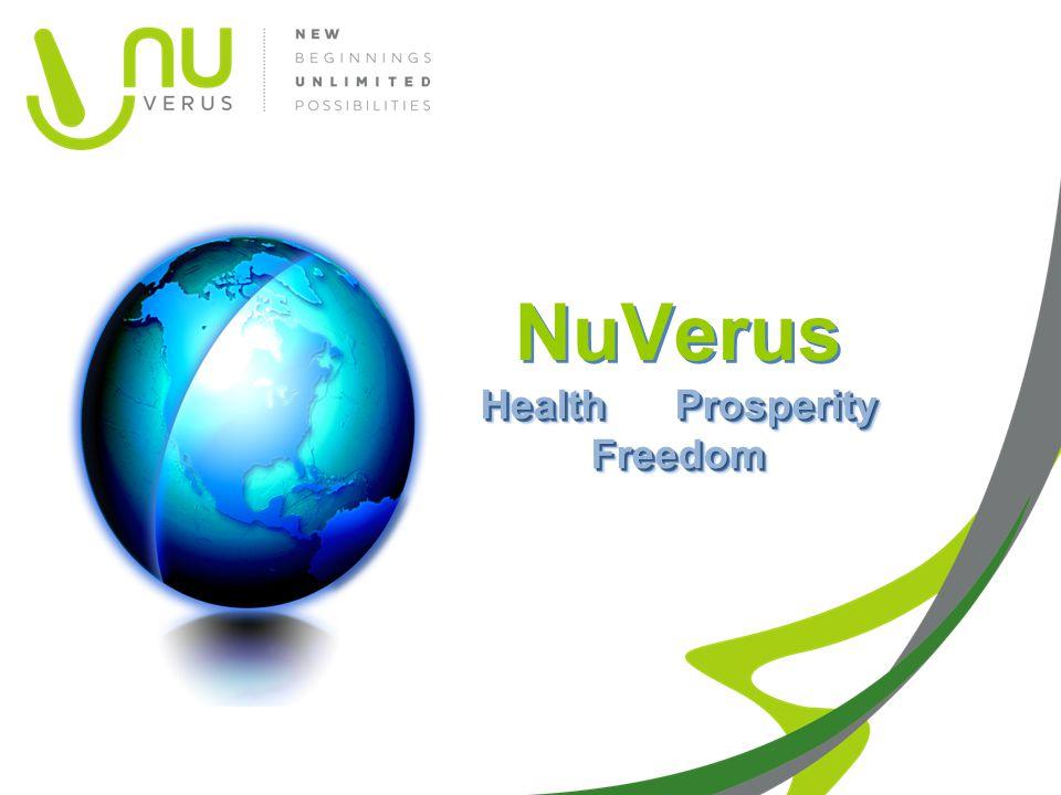 Health Prosperity Freedom NuVerus Health Prosperity Freedom